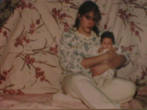 Me and Danni, when she was a newborn