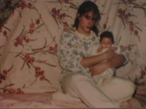 Me and Danni, when she was a newborn